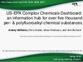 The US-EPA CompTox Chemicals Dashboard – an information hub for over five thousand per- & polyfluoroalkyl chemical substances