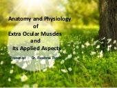 Anatomy and physiology of extraocular muscles and applied aspects