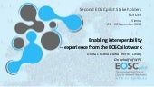 EOSC Stakeholders Forum: Enabling Interoperability-Experience from EOSCpilot