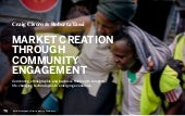For us by us: market creation through community engagement