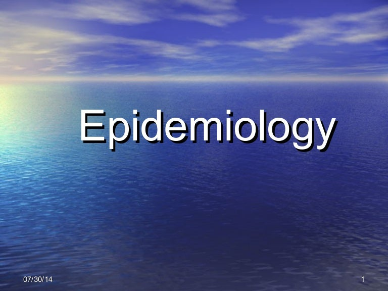 Epidemiology ppt.