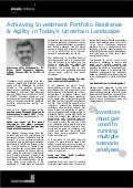 Achieving Investment Portfolio Resilience & Agility in Today's Uncertain Landscape - Mohamed A. El-Erian News Release