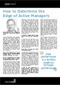 How to Determine the Edge of Active Managers - Peter Andersland News Release