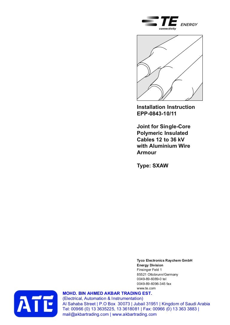 Epp 0843 10 11 Raychem Joint Kit Akbar Trading Est Saudi Arabia Tel Cable Wiring Diagram