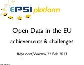 Open Data: the state of the European Union