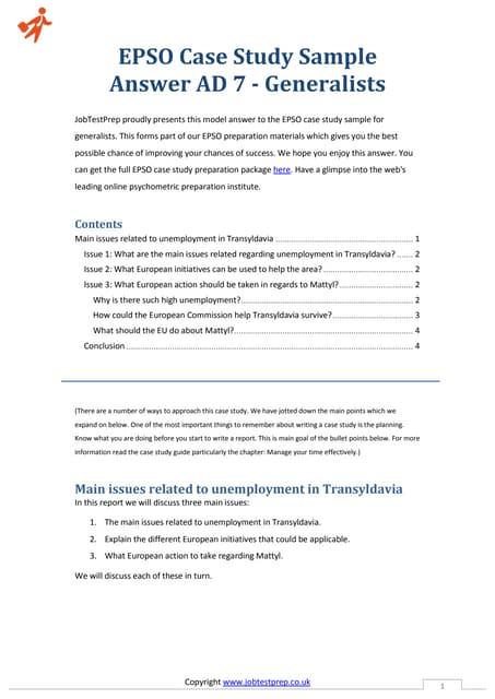 case study epso administrator