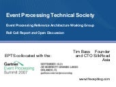 Event Processing Technical SocietyEvent Processing Reference Architecture Working GroupRoll Call Report and Open Discussion