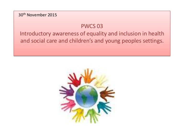 what is meant by equality in health and social care