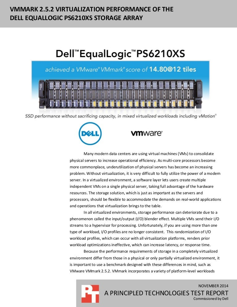 VMmark 2 5 2 virtualization performance of the Dell
