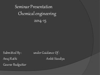Equipment of chemical engg.
