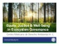 Equity workshop: Equity, justice & well-being in ecosystem governance in Mexico