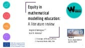 Equity in mathematical modelling education: a literature review