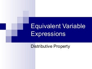 Equivalent Variable Expressions Math Game