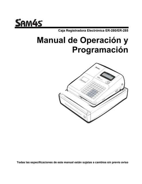 Manual de Programación SAM4S ER-380