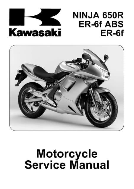 2009 kawasaki er 6 f ex650c9f d9f service manual rh slideshare net GSR 600 Kawasaki ER-6f 2012
