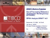 Event Processing Reference Architecture Working Group (EPRAWG) EPRA Analysis DRAFT v0.1