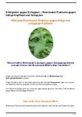 Erfolgreich gegen Schuppen – Brennessel-Tinkturen gegen fettige Kopfhaut und Schuppen