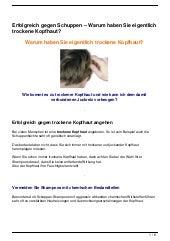 Erfolgreich gegen Schuppen – Warum haben Sie eigentlich trockene Kopfhaut?