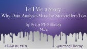 Storytelling and Data by Erica McGillivray
