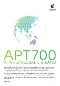 Ericsson APT700: Creating a truly global band