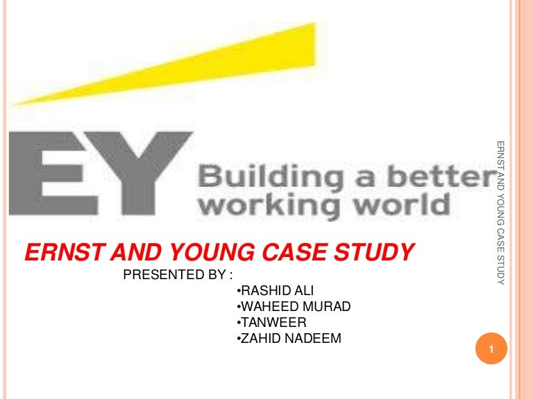 ernst and young case study interview Ernst & young (ey) are the largest global business management consultant group in business today because these representatives needed to balance an interview with a client and take precise notes at the transcribeme provides ernst & young with: incredibly fast turnaround (within 1-3 days.