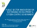 Public Sector Innovation for Sustainable Development and Citizen-centric Government - OECD