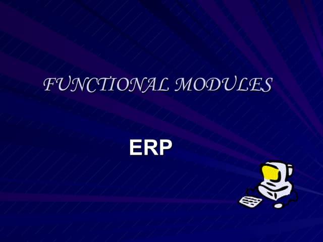Erp --functional-modules