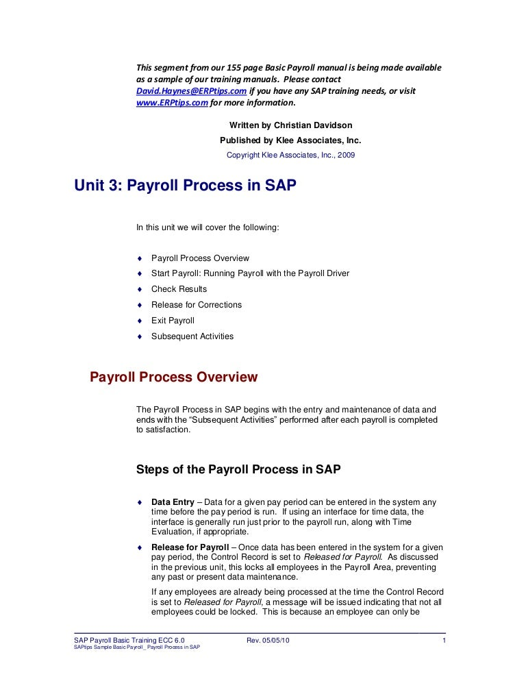 Erptips Sap-Training-Manual-Sample-Chapter-From-Basic-Payroll