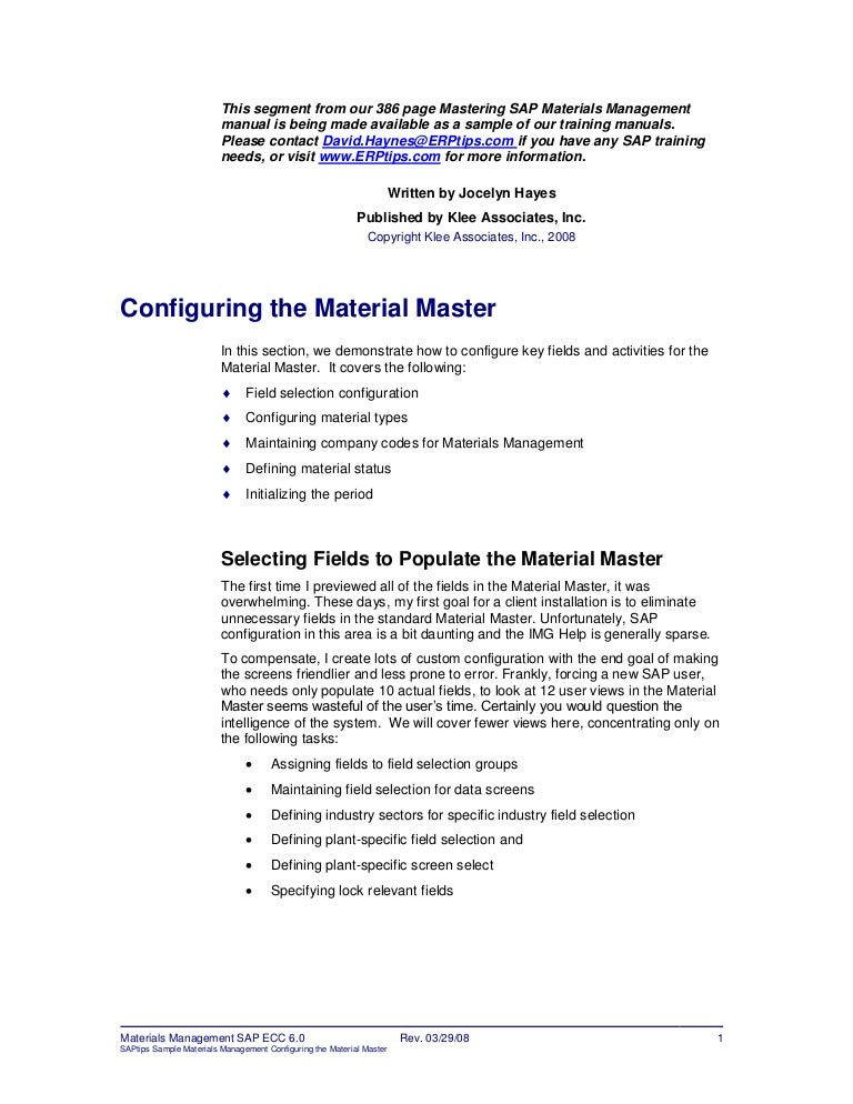 Er Ptips Sap-Training-Manual-Sample-Chapter-From-Materials-Management