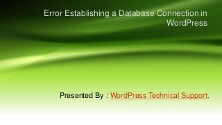 Error in word press