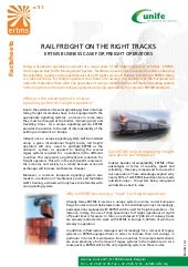 ERTMS Fact Sheet 11 - Rail freight on the right tracks