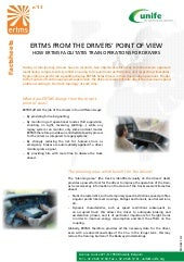 ERTMS Fact Sheet 13 - ERTMS from the drivers' point of view