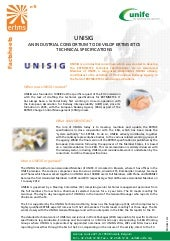 ERTMS Fact Sheet 8 - UNISIG- an industrial consortium to develop ertms - etcs technical specifications