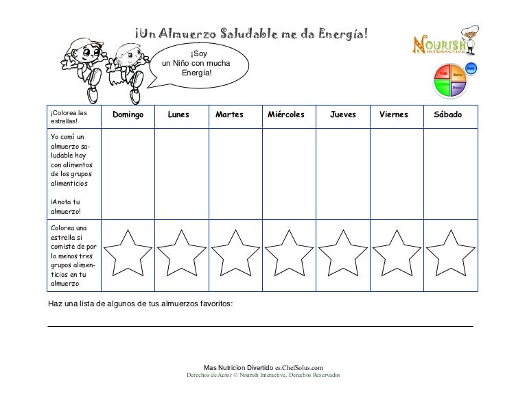Es spanish childrens lunch food diary printable kids write in food jo ccuart Image collections