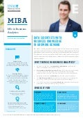 MIBA - MSc in Business Analytics