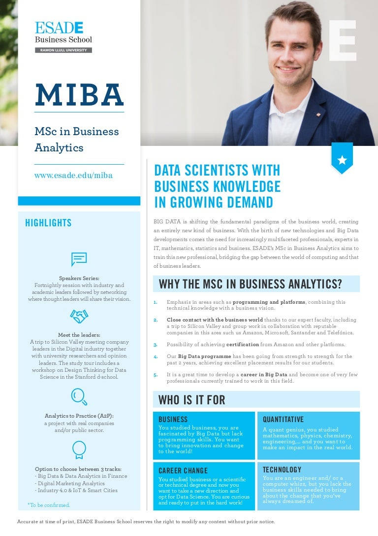miba msc in business analytics