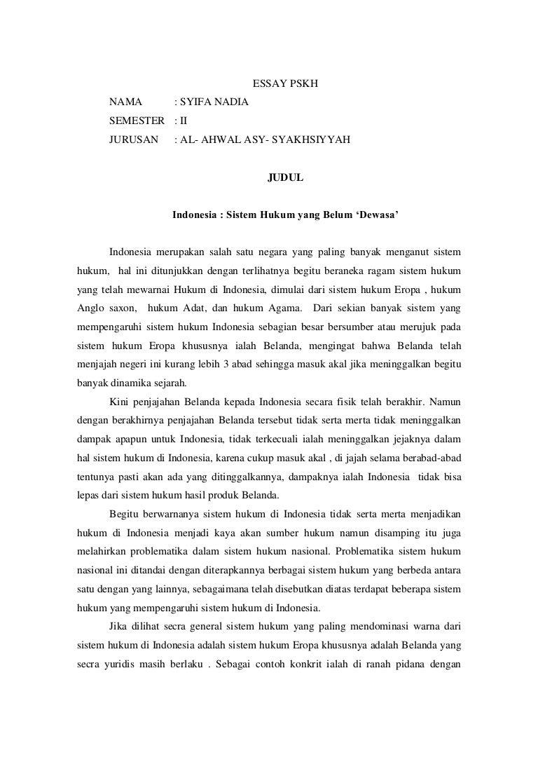 kerangka essay tentang korupsi