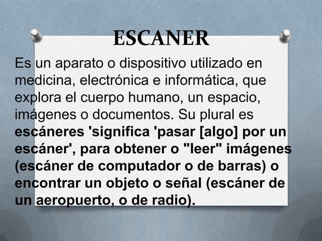Escaner