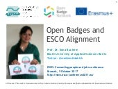 Open Badges and ESCO Alignment