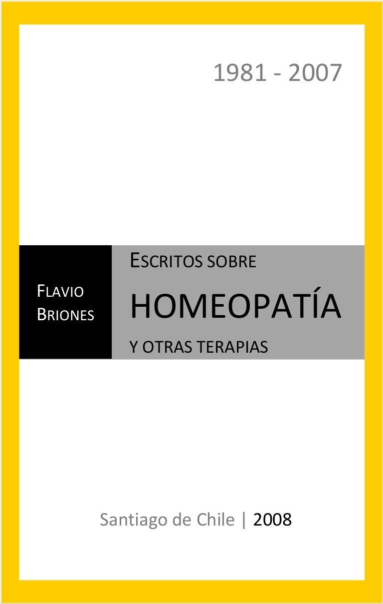 Escritos Sobre Homeopatia Flavio Briones 2008