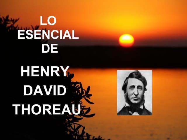 Esencial De Henry Thoreau