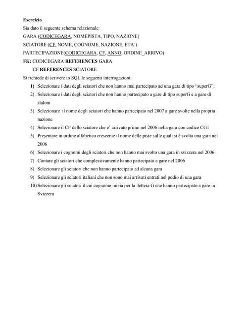 esercizio sigda n 8
