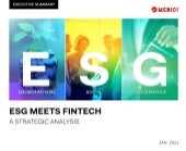 ESG Meets FinTech – A Strategic Analysis Executive Summary
