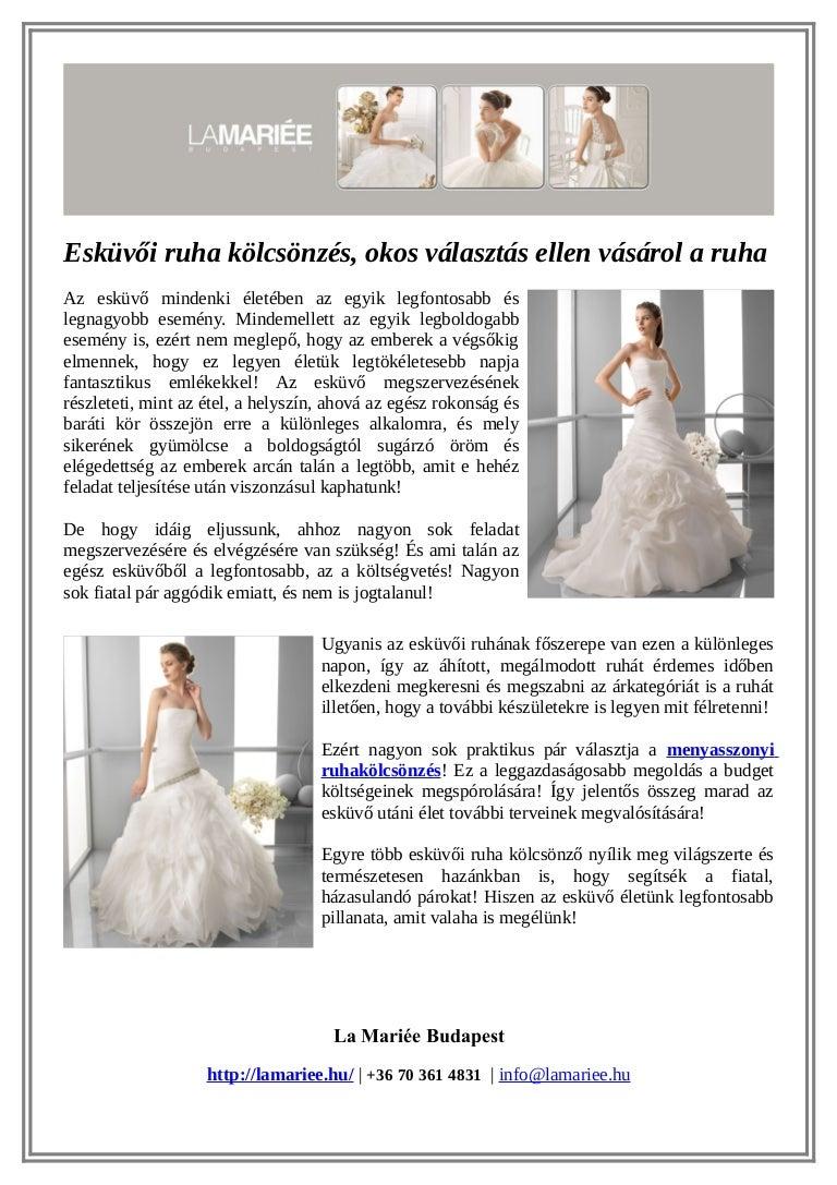 Esküvői ruha kölcsönzés 9addf8768e