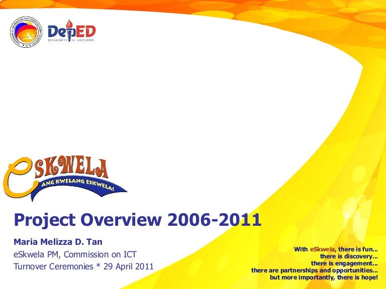 Eskwela report turnover ceremonies 29 april 2011 yelopaper Images