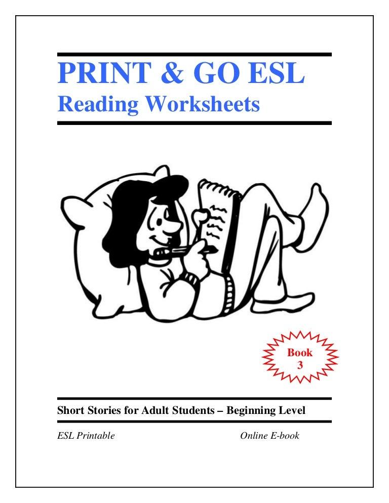 Esl Worksheets Book 3 Short Stories For Adult Students