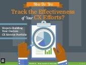 How Do You Track the Effectiveness of Your CX Efforts? Steps to Building Your Custom CX Metrics Portfolio