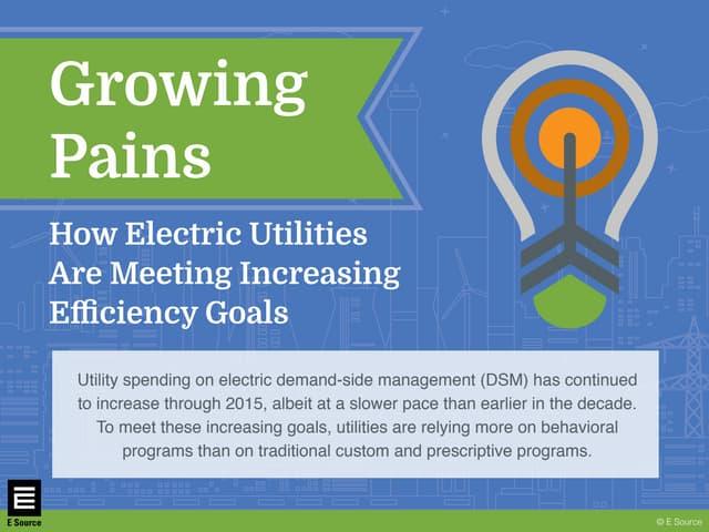 Growing Pains: How Utilities Are Meeting Increasing Efficiency Goals