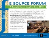 E Source Forum: A Compilation of Insights from 2016