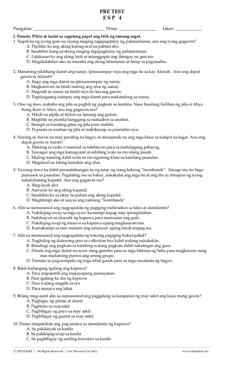 Essay sa tagalog | Research paper Example